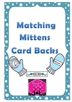 Telling the Time Matching Mittens Activity Card Backs