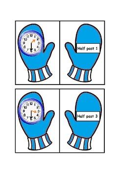Telling the Time Matching Mittens Mega Bundle