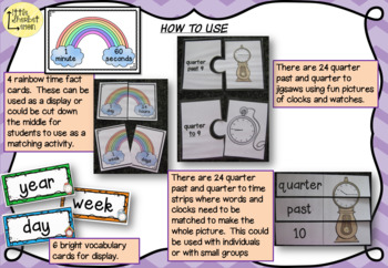 Telling the Time - Quarter Past & Quarter To Activities