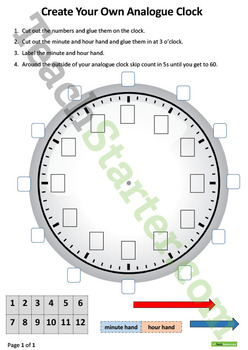 Telling the Time Unit Plan – Year 1 and Year 2