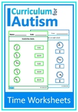 Telling the Time Worksheets Autism Special Education Lifeskills