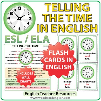 Telling the Time in English - Flash Cards and Charts