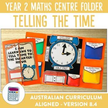 Telling the Time to the Quarter Hour Math Centre Activity Folder Bundle