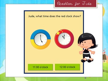 Telling the time - Interactive PowerPoint Game (spring edition)
