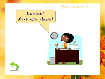 Telling the time - Interactive PowerPoint Game (fall edition)