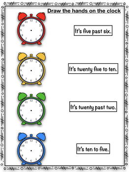 Telling the time- Posters+ worksheets- Bilingual version
