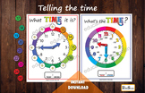 Telling the time, Printable Clock learning, Analog and dig