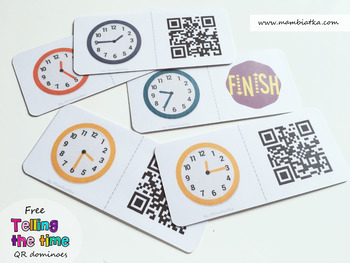 Telling the time - QR dominoes game
