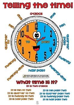 Telling the time! Worksheet & Poster Pack FREEBIE
