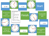 Telling the time board game