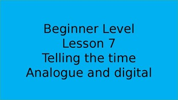Telling the time for beginners