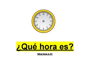 Telling the time in Spanish Worksheet