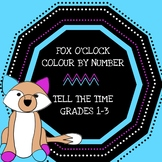 Telling the time in hours (Colour by numbers) Grades 1-3