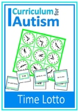 Telling The Time Lotto Game Autism Special Education Turn