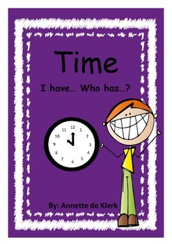 """Telling the time with """"I have... Who has...?"""" game"""