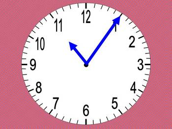 Telling the time with various clockfaces. French 1