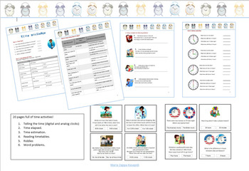Telling the time printable worksheets