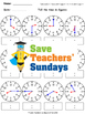Telling the Time Worksheets (4 levels of difficulty) - CCSS 1.MD.3 and 2.MD.7