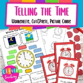 Telling the time- worksheets and picture cards