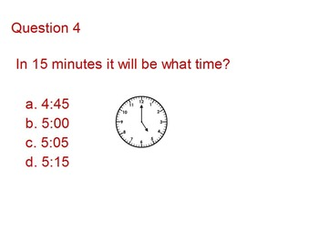Promethean Flipchart on Telling Time