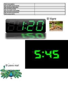 Telling time- ¿Qué hora es?