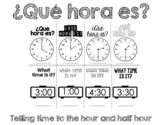 Telling time ¿Qué hora es?