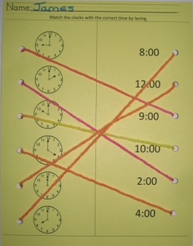 Telling time clock activity