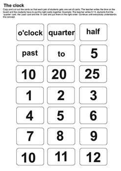 Telling time - clock explanation and game