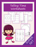 Telling time clock worksheets