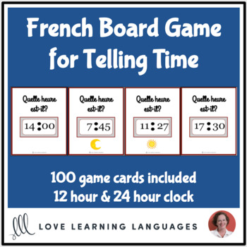 Telling time in French - Board Game