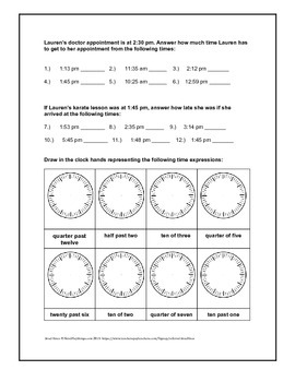 Telling time in analog, digitally, and expressions | Fun worksheet 2.MD.C.7