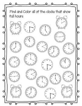 Telling time: lesson ideas and workbook
