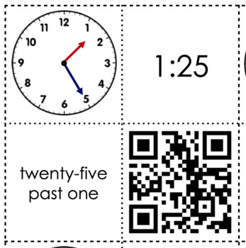 Telling time match up