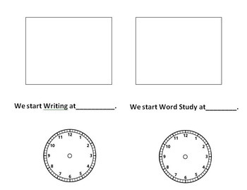 Telling time on a class schedule through the day