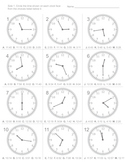 Telling time - standardized test practice