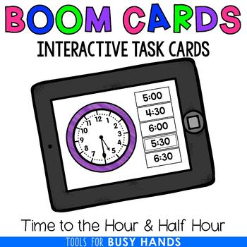 Telling Time to the Hour & Half- Hour (Boom! Deck)
