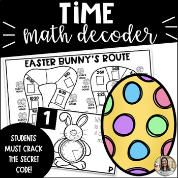 Telling time to the Nearest 5 Minutes: Spring Math Activity