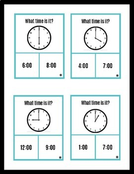 Telling time to the hour! (Autism and Special Education)
