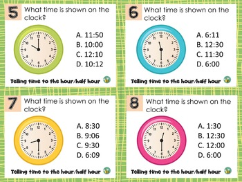 1.MD.B.3 Telling time to the hour and half hour