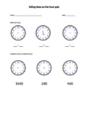 Telling time to the hour quiz