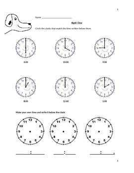 Telling time using the hour hand