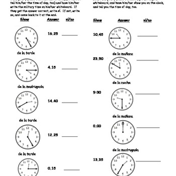 24 Hour Clock Time Worksheets & Teaching Resources | TpT