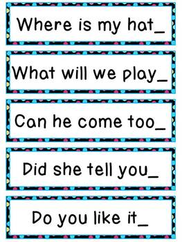 Telling vs. Asking Sentences Pack
