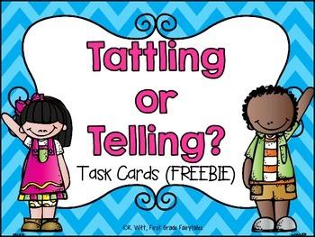 Telling vs. Tattling Sorting Cards