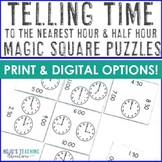 Telling Time to the Hour and Half Hour Games, Centers, or