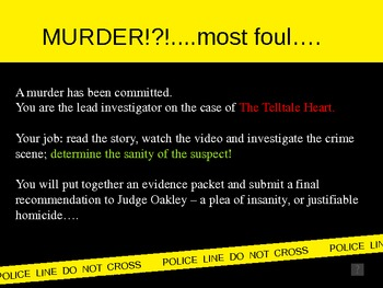 Telltale Heart - CSI Power Point (Hook Activity)