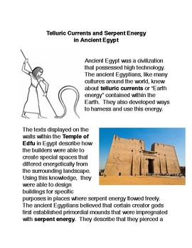 Telluric Currents and Serpent Energy in Ancient Egypt