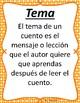 Tema - Theme - Spanish Reading