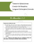 Temario Oposiciones Francés Temas 1 a 5