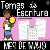 Temas Para Escritura Mes de Mayo - Writing Prompts for May